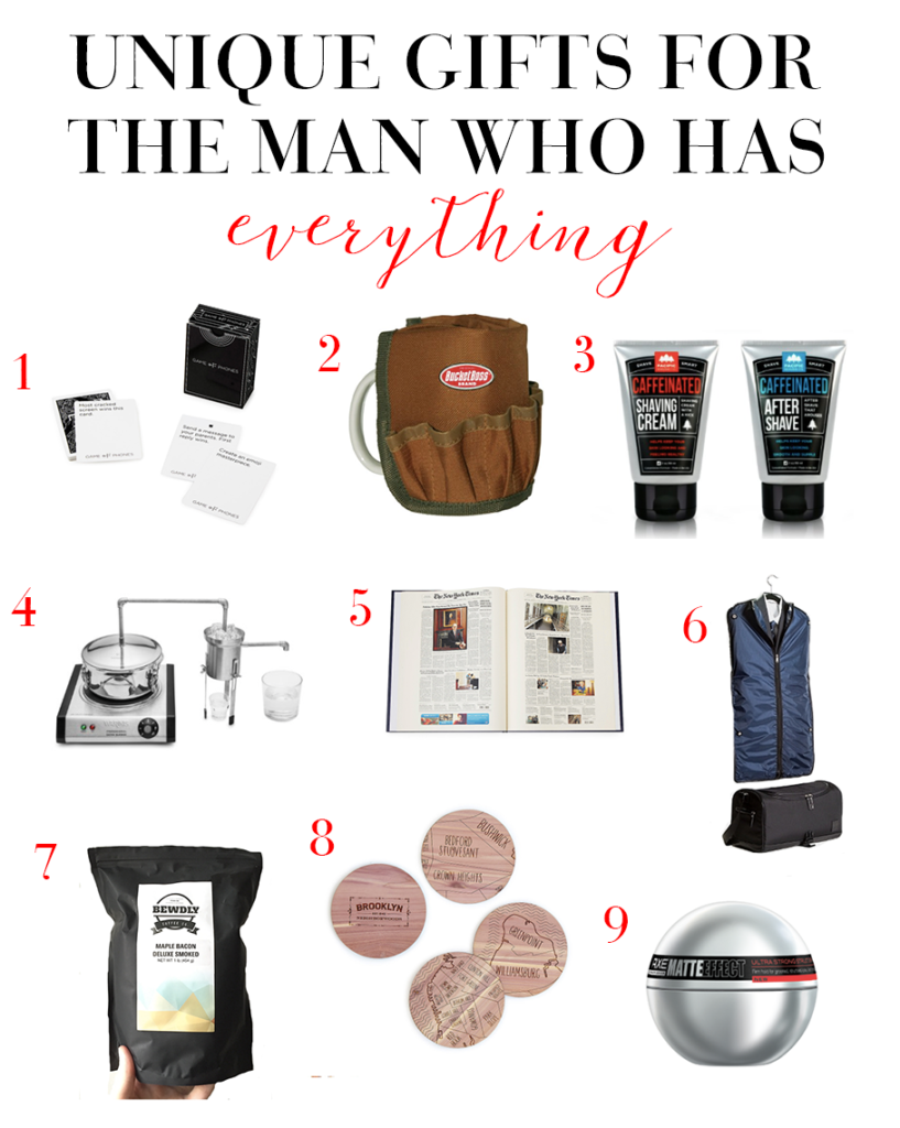 Holiday gift guide for the man that has everything for What to get for the man who has everything christmas